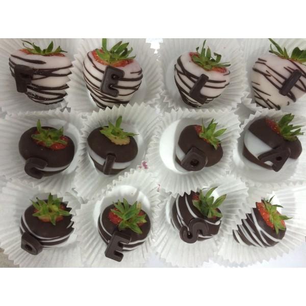 Bombones de Fresa solo chocolate