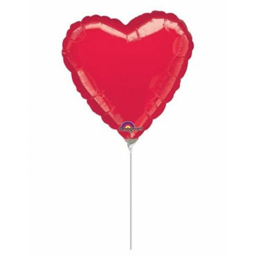 Globo Mini Corazon Rojo