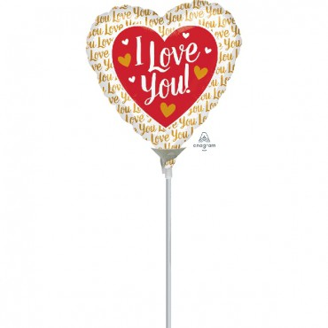 Globo Mini I love You Rosa & Oro