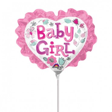 Globo Mini baby girl heart