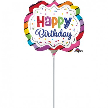 Globo Mini Rainbow Birthday